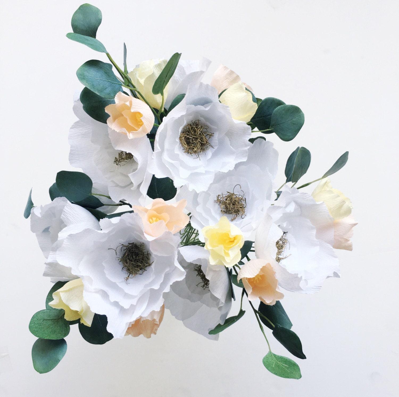 Large Paper Flower Bouquet Crepe Paper Flower Bouquet Paper Etsy