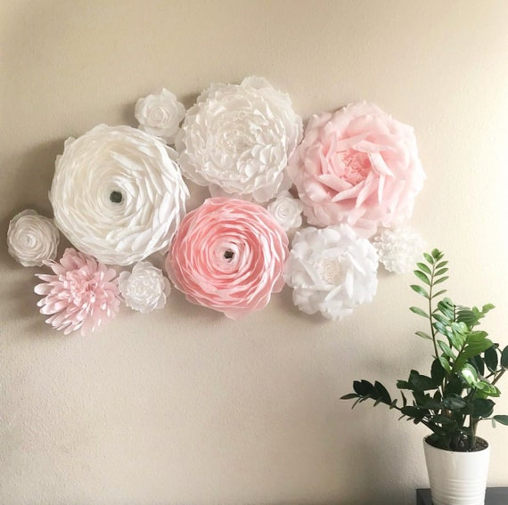 Paper Wall Flowers Set for Girl's Nursery