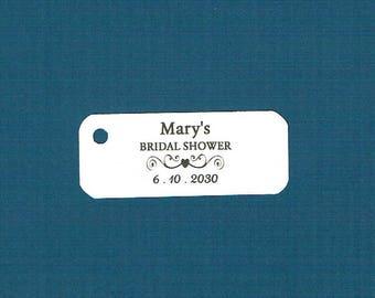 Wedding Tags, Set of 50, Bridal Shower Tag, Printed Tags, Wedding Shower Tags, Tags, Wedding Favor, Thank You Tag