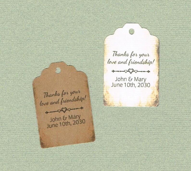 Thank You Tag Tags Printed Tags Wedding Favor Set of 50 Wedding Shower Tags Thank You Tags Wedding Tags