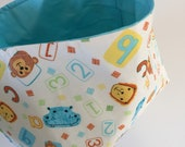 Fabric Bin | Animals ABC ...