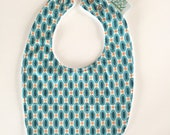 Baby Bib | Blue & Green R...