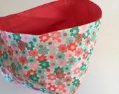 Fabric Bin | Pink & Green...