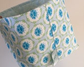 Fabric Bin | Blue Flowers...