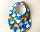 Baby Bib | Rainbow Clouds...