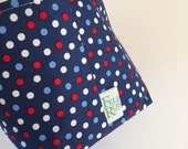 Fabric Bin | Navy Dots...