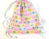 Drawstring Bag | Pink Ele...
