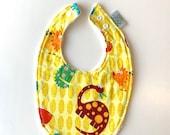 Baby Bib | Yellow Dinosau...