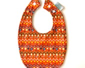 Baby Bib | Red Pattern...