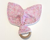 Teething Ring | Pink Flor...