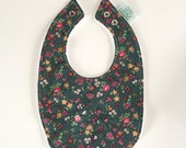 Baby Bib | Dark Green Flo...
