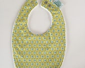 Baby Bib | Green & Blue R...