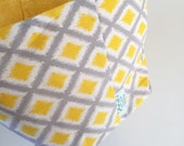 Fabric Bin | Yellow & Gre...