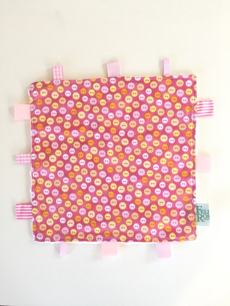 Taggie  Pink Yellow & Orange Buttons image 0