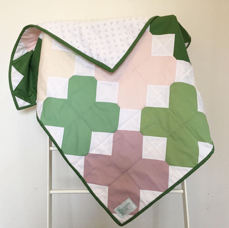 Quilt  Pinks & Greens image 0
