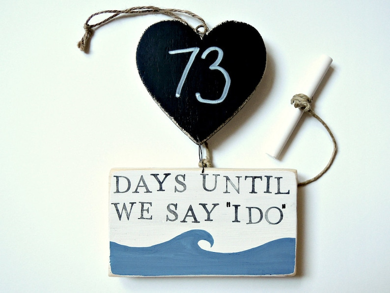 Personalised Wedding Engagement Sign Days Until Mr /& Mrs Countdown Chalk Board