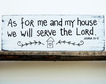 As for me and my house sign, Bible Verse Wall Art, Scripture Wall Décor, Wood Home Wall Décor, Wood Signs Sayings, Christian Wood Sign
