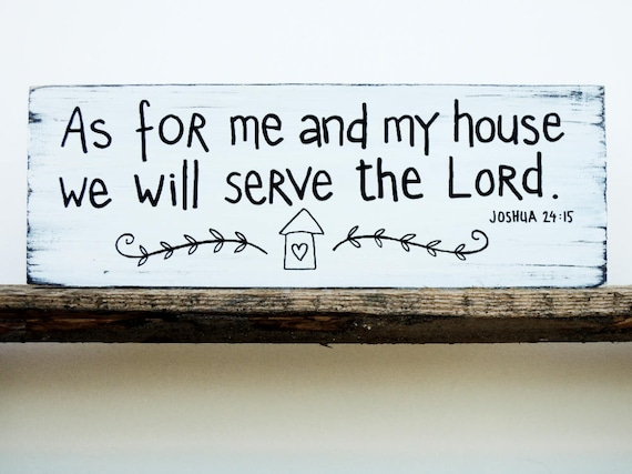 As For Me And My House Sign Bible Verse Wall Art Scripture Etsy