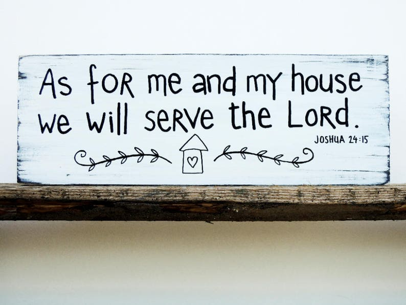 As For Me And My House Sign Bible Verse Wall Art Scripture Wall Decor Wood Home Wall Decor Wood Signs Sayings Christian Wood Sign