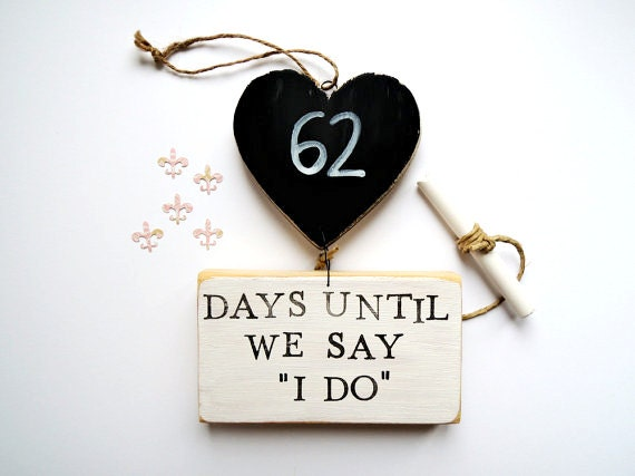 Gifts For Fiance On Wedding Day: Wedding Countdown Sign Fiance Gift Bride Gift Days Until