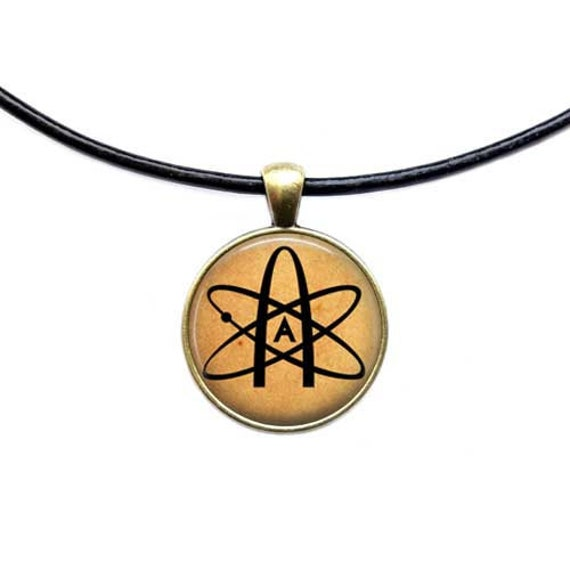 Atheist Symbol Necklace Atom Pendant Antique Jewelry Etsy