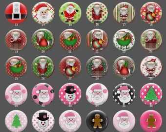 Handmade Photo Glass Cabochon,Santa Claus, Christmas present. handmade cabochons, glass cabochons, round cabochons More styles and size-778