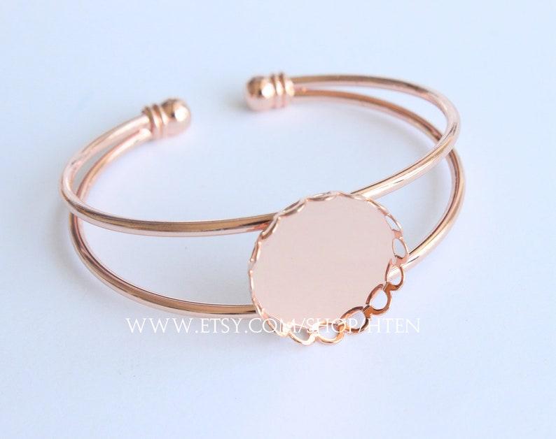 Blanks Bracelet Cuff,Bezel Bracelet Bangle,25mm Bezel Cuff 5pcs 25mm Adjustable Brass Bracelet Setting Base,Bracelet Supply