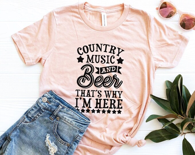 Country Music And Beer Shirt / Country Music Tee / Concert Tee / Drinking Tee
