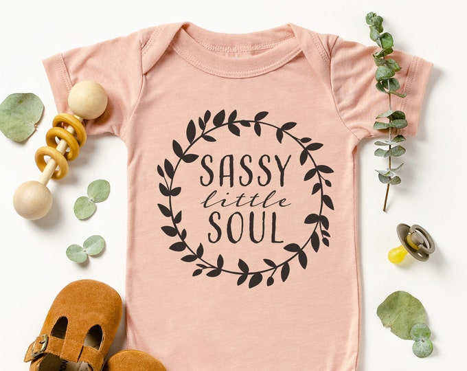 Sassy Little Soul Baby Bodysuit /  Cute Baby Clothes / Baby Gift / Baby Shower