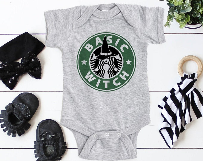 Basic Witch / Halloween Baby Bodysuit / Baby Clothes / Baby Gift / Baby Shower