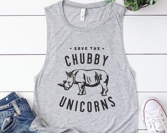 6d88dbdc89874 Save The Chubby Unicorns Tank   Funny Tank   Gym Tank   Summer Tank