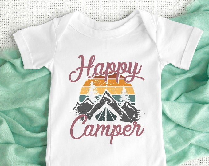 Happy Camper / Baby Bodysuit / Cute Baby Clothes / Baby Gift / Baby Shower
