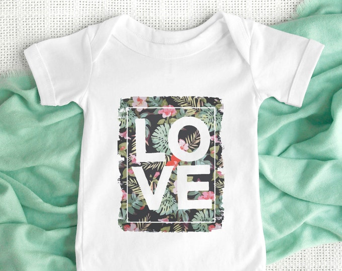 Love Baby Bodysuit / Cute Baby Clothes / Baby Gift / Baby Shower