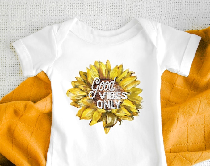 Good Vibes Only  / Baby Bodysuit / Cute Baby Clothes / Baby Gift / Baby Shower