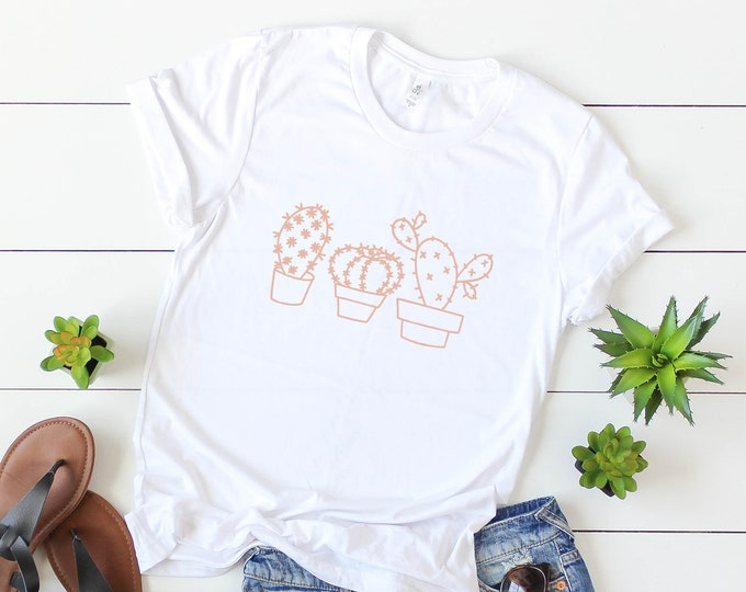 SALE!!! 3 Cacti Tee / Cactus Tee / Graphic Tee / Basic Tee / Unisex / Women's Tee