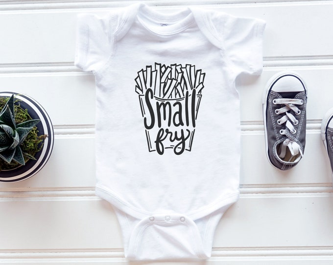 Small Fry  / Baby Bodysuit / Funny Baby Clothes / Baby Gift / Baby Shower