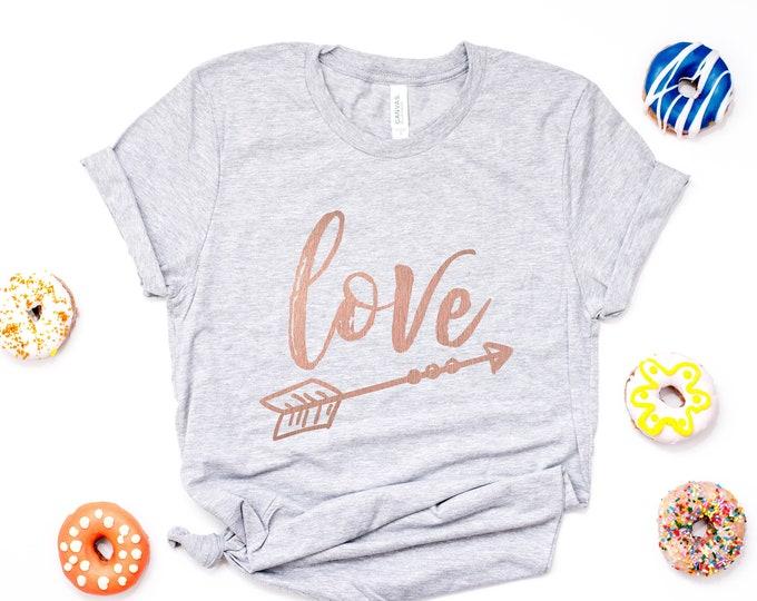 SALE!!! Love with Arrow Tee / Graphic Tee / Basic Tee / Unisex / Women's Tee / Love Tee /