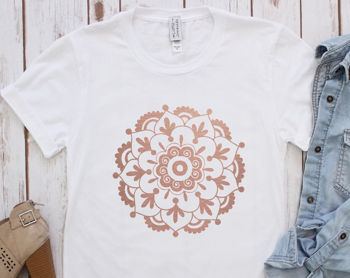 SALE!!! Circle Mandala Tee / Graphic Tee / Basic Tee / Unisex / Women's Tee / Boho Tee