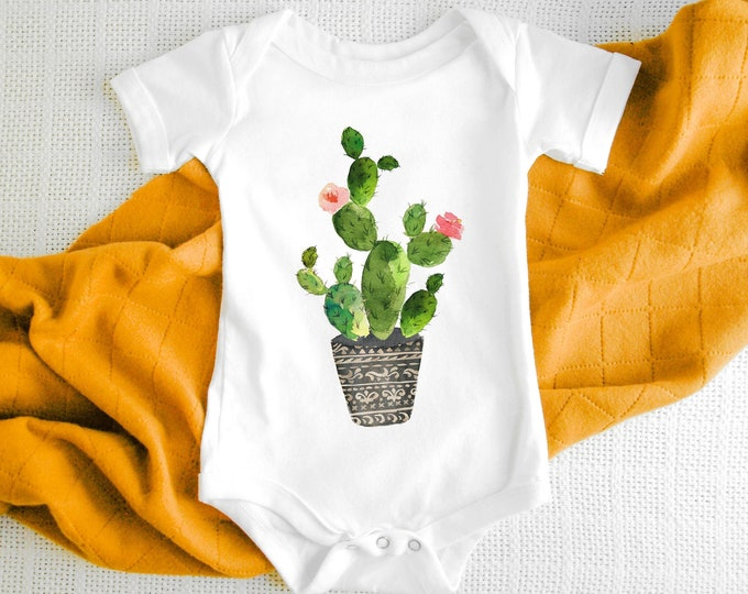 Cactus Print  / Baby Bodysuit / Baby Clothes / Baby Gift / Baby Shower