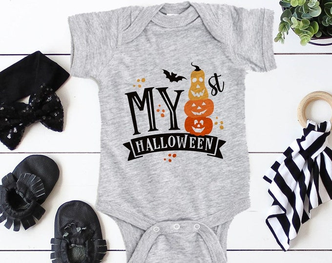 My First Halloween / Halloween Baby Bodysuit / Ghost / Baby Clothes / Baby Gift / Baby Shower
