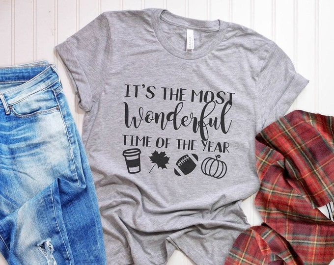 It's The Most Wonderful Time Of The Year / Autumn / Fall / Women's Tee / Women's Shirt