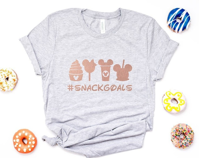 c6809a43b Disney Snack Goals / Disney Tee / Vacation/ Graphic Tee /