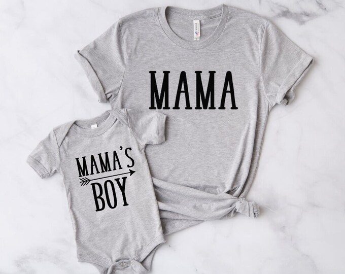 Mommy & Me Outfit / Mama's Boy / Mama
