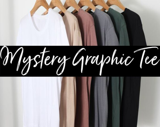 SALE- Overstock on Assorted Style Tees - Mystery Graphic Tee - Graphic Tee - Womens Tee - Unisex Tee