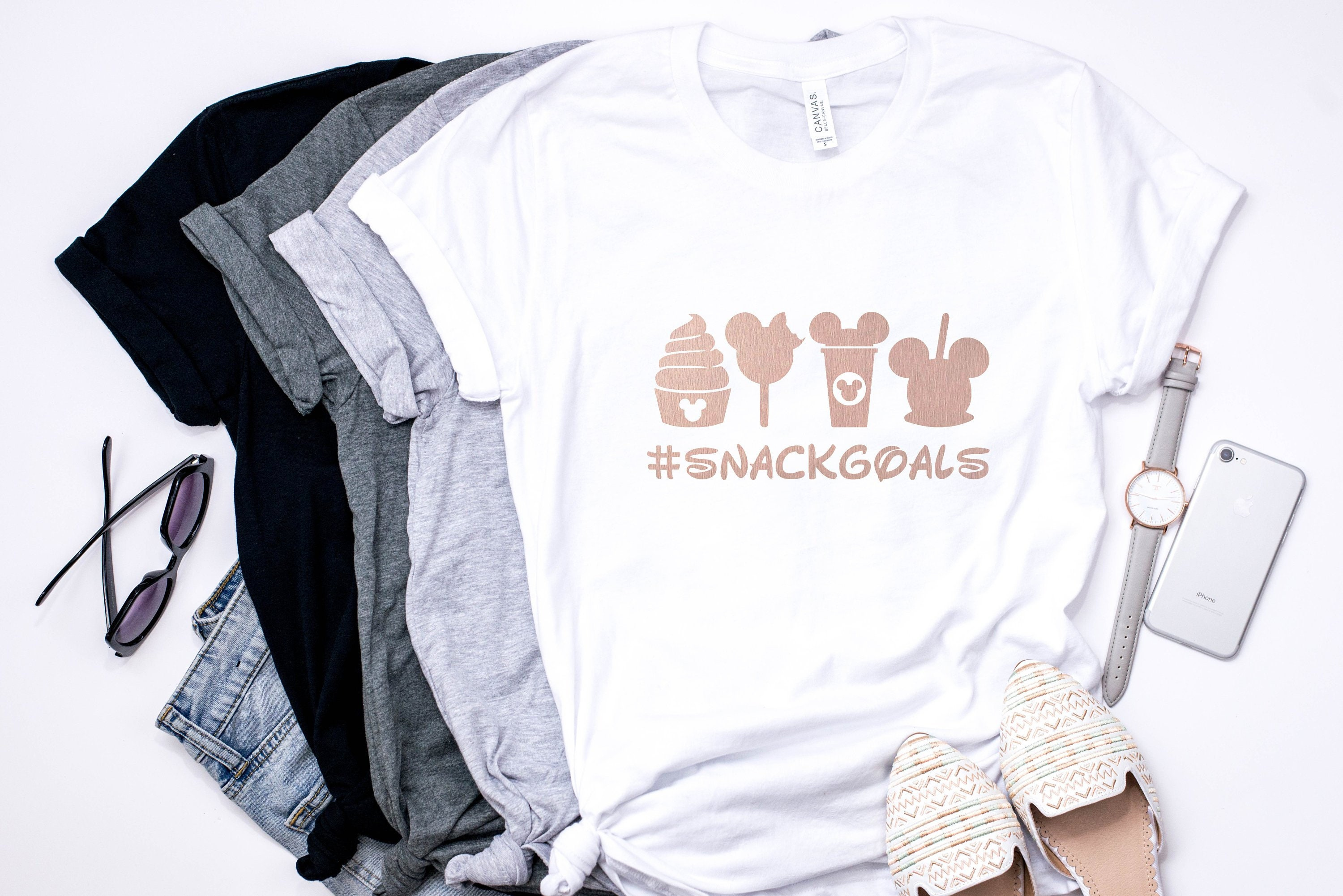 1c4cf04b0 Disney Snack Goals / Flower Tee / Graphic Tee / Basic Tee / Unisex /  Women's Tee. gallery photo ...