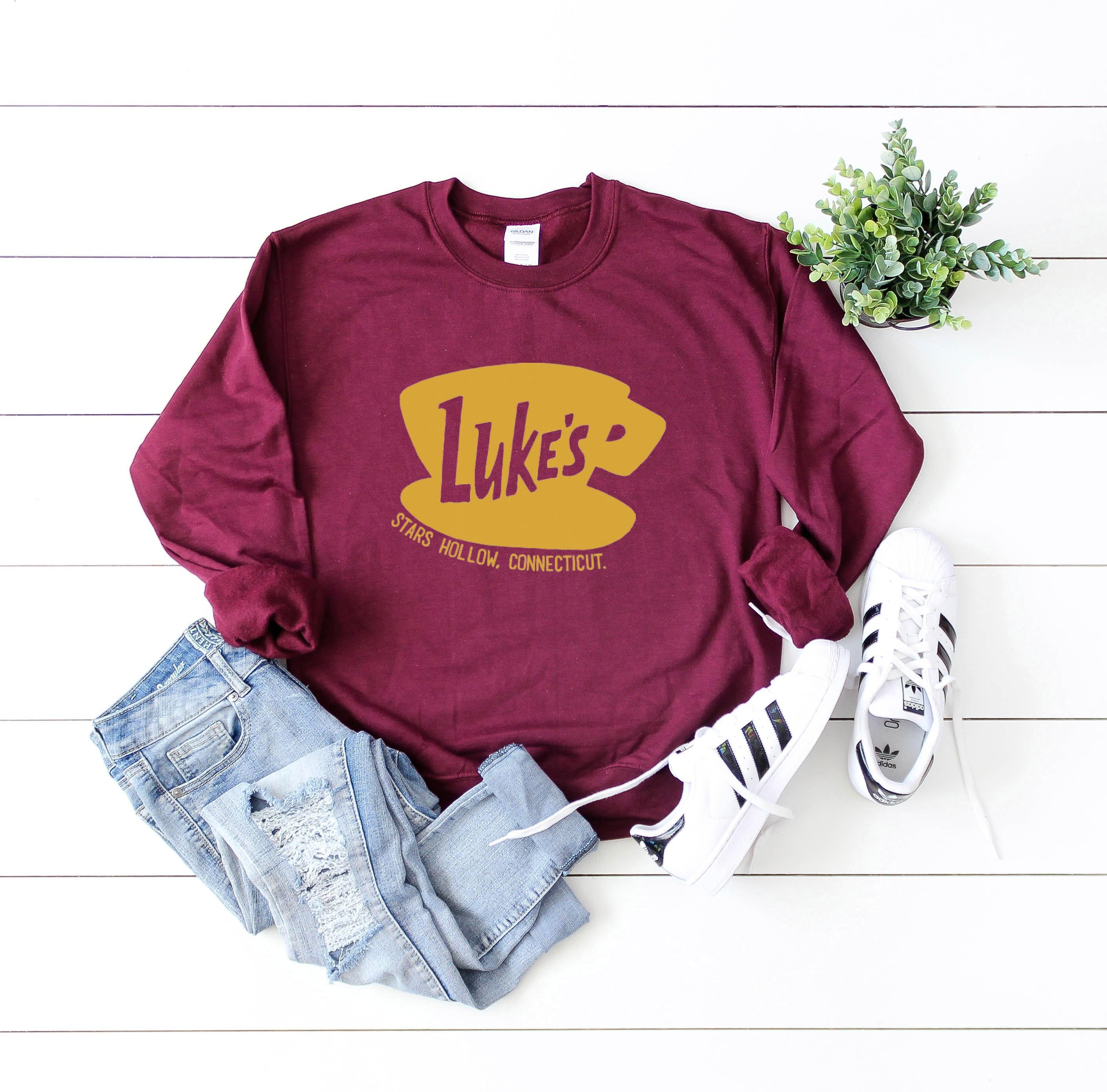 3ac269d6a ... Crewneck Sweatshirt - Gilmore Girls Luke's Diner - Stars Hollow Shirt -  Lukes Coffee Shop. gallery photo gallery photo