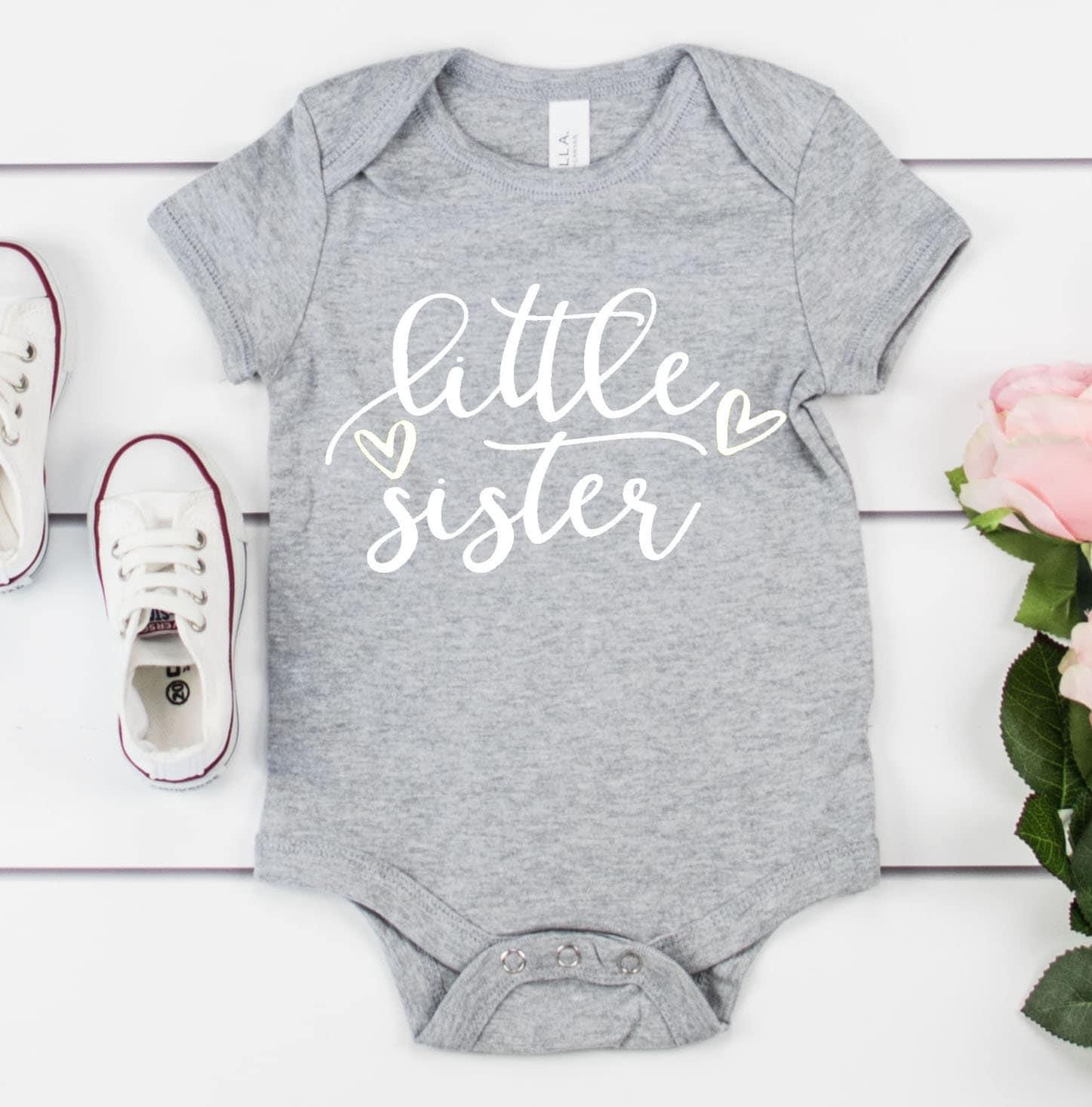 f5a350240 Little Sister Onesie / Pregnancy Announcement / Baby Girl / Baby Sister /  Girl Onesie. gallery photo
