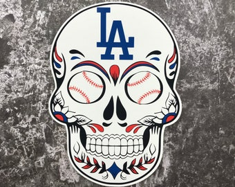 a6900dc9d98 Large Los Angeles Dodgers Skull Sticker