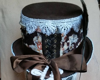 Reduced!!! Steampunk/Victorian Tophat unique