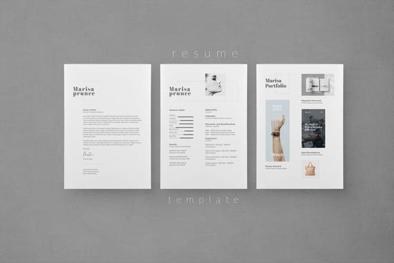 Resume Template Cv Template Cover Letter Creative Resume Instant Download